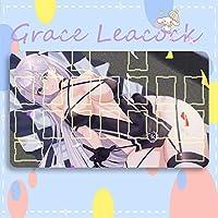 GraceLeacock カードゲームプレイマット 遊戯王 プレイマット Azur Lane アズールレーン 翔鶴 TCG万能 収納ケース付き アニメ 萌え カード枠あり (60cm * 35cm * 0.4cm)