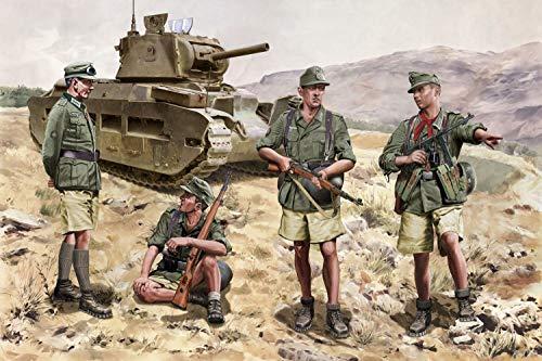 Dragon 500776742–1 : 35 montagneuses Chasseur Crete 1941, Figurines