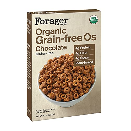 Forager Project, Organic Grain-Free Gluten-Free Chocolate Cereal, 8 Ounce