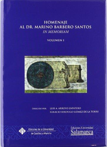 Homenaje al Dr. Marino Barbero Santos. In Memoriam.2 vols. (Aquilafuente)
