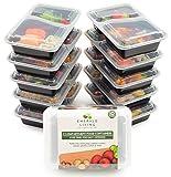 |10 pack| 2 fach Meal Prep Container. Frischhaltedosen Bento-Box Set mit Deckel. Spülmaschine, Mikrowelle, Gefrierschrank safe. BPA-frei Frishchalteboxen aus Kunststoff mit Trennwände...