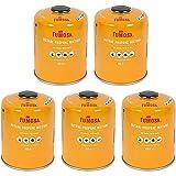 FUMOSA Gaskartuschen Set für Weber Q100/1000-Serien, Performer & Go Anywhere, Ventilkartusche je 450g Anzahl 5 Kartuschen