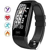 Körpertemperatur Smartwatch Fitness Tracker mit Blutdruckmessgerät Herzfrequenzmesser IP67 Wasserdichter Aktivitäts Tracker mit Schrittzähler Schlaf Tracker, Fitnessuhr für Frauen Männer Ouoy