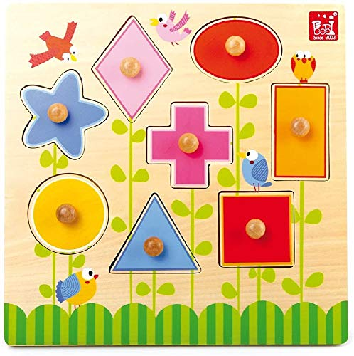Legler Small Foot Company (Smb5V) - 5843 - Puzzle en Bois - Formes Géométriques