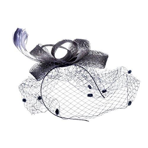 Allence - Pinza para el Pelo para Mujer, diseño de Plumas Plata Talla única