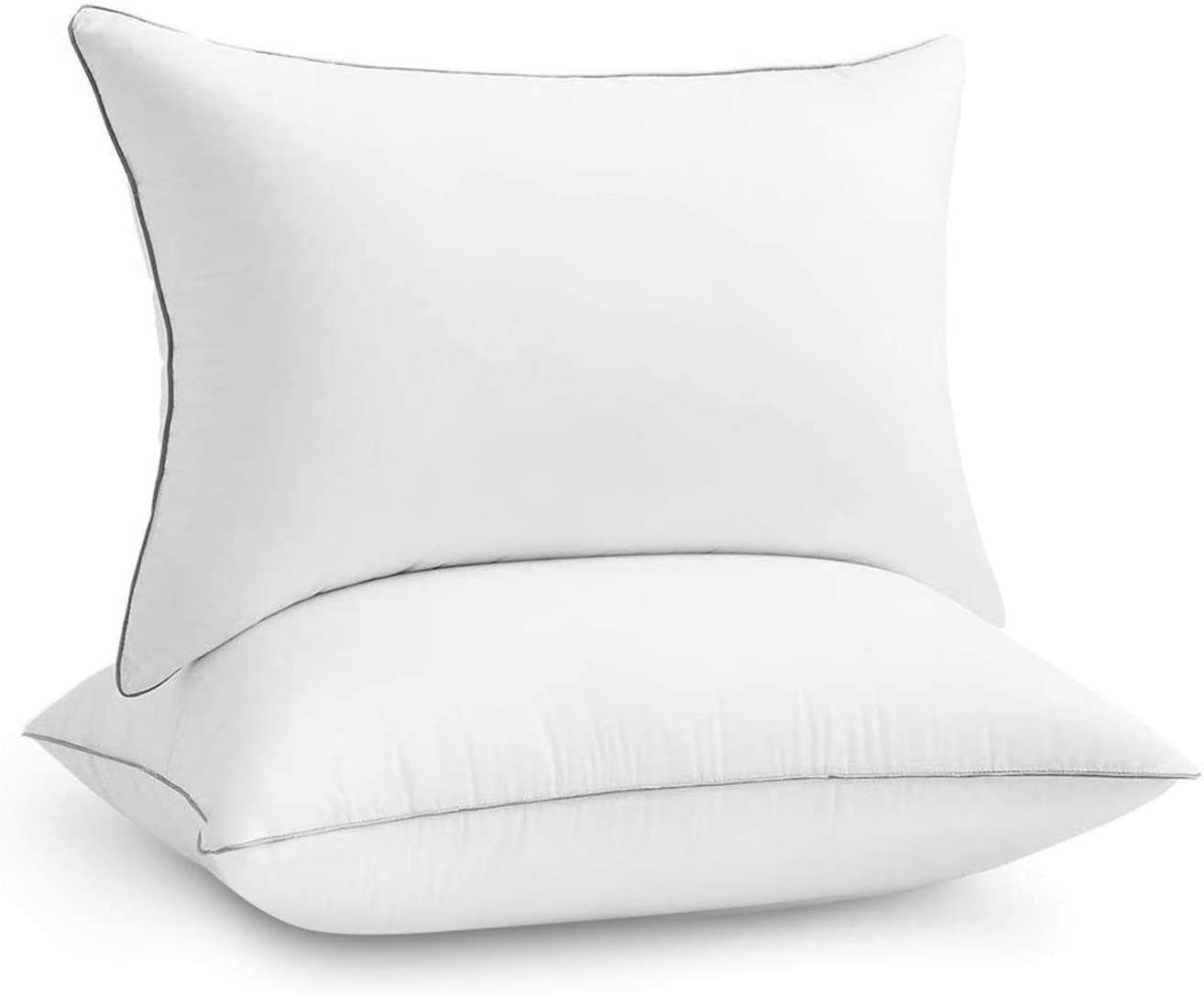Emolli Hotel Bed Pillows for Sleeping - 2 Pack Luxury Plush Pillows, 100%  Cotton Cover and Super Soft Down Alternative Microfiber Filled Pillows,  Standard Size, 20 x 26 inches : Home & Kitchen - Amazon.com
