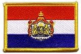 Flaggen Aufnäher Niederlande mit Wappen Fahne Patch +