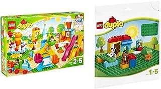 レゴ(LEGO)デュプロ デュプロ(R)のまち おおきな遊園地 10840 & デュプロ 基礎板(緑) 2304