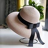 Tony plate Sombreros de Verano Negros de diseño Vintage Muj