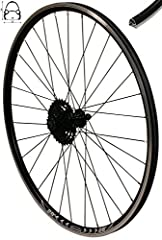 Redondo 28 tums bakhjul impeller V-profil Fälg svart 8-fold Shimano kassett