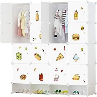 Garde-robe Simple Enfants Cartoon bébé Assemblé bébé Enfant Armoire de Rangement Simple économie Moderne XINYALAMP (Size : B)