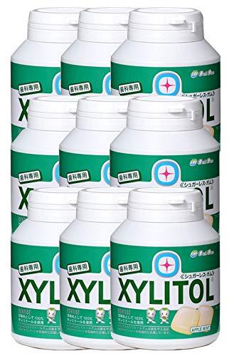 歯科専用 キシリトールガム ボトルタイプ アップルミント(約90粒) 9個セット