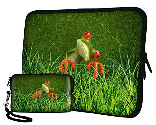 LUXBURG 12' Pulgadas Bolso con diseño, Funda en Neopreno para Ordenador Portátil Tablet. Además de la Bolsa de la cámara Gratis!