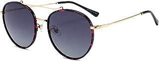 Fashion Personality Round Face Fashion Wild Sun Sunglasses UV400 Sunglasses Female Retro Sunglasses Retro (Color : Multi-Colored)