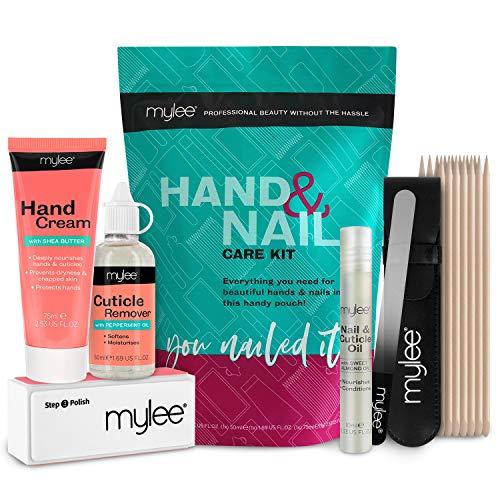 Mylee Kit de Cuidado de Manos y Uñas, Eliminador de Cutículas, Crema...