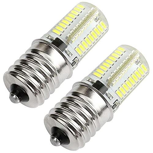 Gmasuber Bombilla LED E17 2 unidades, E17 LED para horno de microondas, intensidad regulable, 3 W, luz blanca 6000-6500K, 80X3014SMD