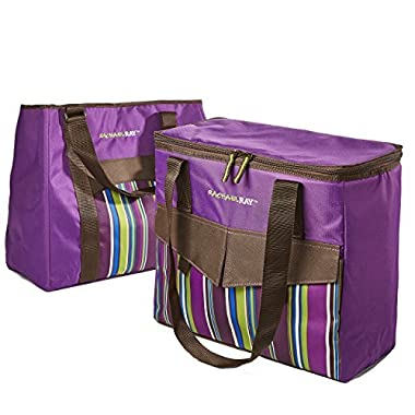 Rachael Ray ChillOut 2 Go Deluxe Thermal Tote (Set of 2) - Purple
