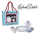 Lisbeth Dahl Mini-Porzellan-Set, 8. teilig, Kanne, Zuckerbehälter, Milchkanne, 2x Tassen, 2x...