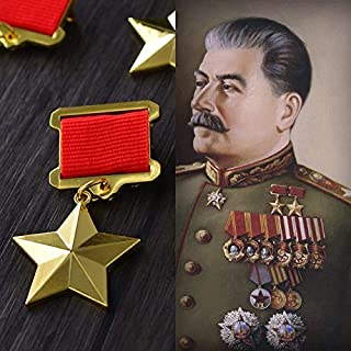 BeesClover Soviet Union Great Patriotic War Golden Star Russian Medals Army of Russia Badges with Pin CCCP Military Ribbon Badge Show