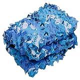 Cean Blue Red de camuflaje Material de tela Oxford Fotografía al aire libre Conjunto de juegos de Cs Apoyos de película y televisión Adecuado para sombrillas Tienda de campaña Caza para niños Red de c