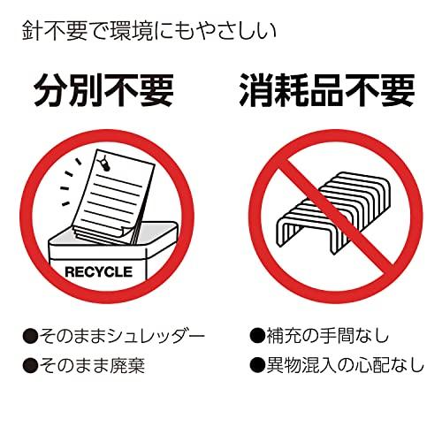No needle stapler Kokuyo <Ha Linux></noscript> (desktop 12 sheets) SLN-MS112D (japan import) - 3
