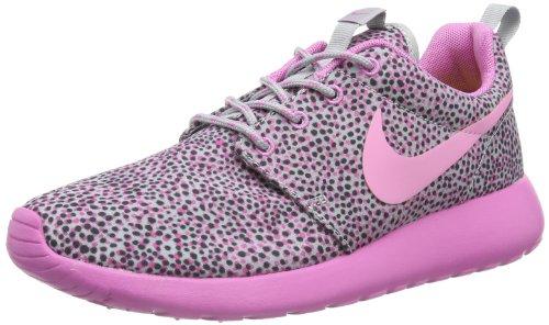 Nike Roshe Run 599432-005, Damen Laufschuhe, Grau (Wolf Grau/Rot Volt-Anthracite-Volt 005), EU 39