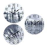 By SIGRIS Reloj Pared Surf 34Cm 3 Diferentes Incluye 3 Unidades Adorno Pared Relojes Colección Surf Signes Grimalt Decor And Go