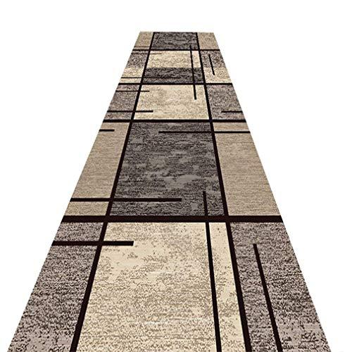 GJIF Läufer-Teppich für Flur 8mm kurzer Flor Lange Teppichboden rutschfeste Keine verblassenden Schlafzimmer Boden modernes Design, mehrere Größen (größe : 0.6x3m)