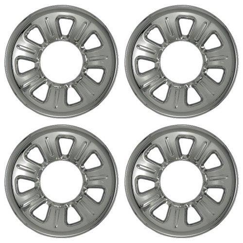 Set of 4 Chrome Wheel Skin Hubcaps: Ford Ranger (2001 - 2011) & Mazda B series...