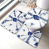 Taroot AA Alfombrillas de baño de Franela con Estampado Tie Dye Comfort Set de 3 Piezas Soft MAT-1330