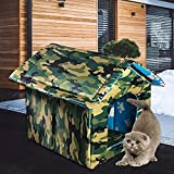 Impermeable al aire libre casa de mascotas engrosada tienda de nido de gato Cabina Cama de mascotas Tienda de campaña de gato perrera portátil de viaje nido portador de mascotas
