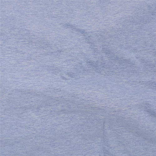 Telio 0590104 Organic Melange Cotton Jersey Knit Lt Blue Fabric by the Yard