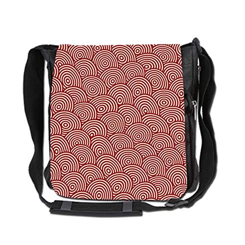 Hdadwy Totem Of Small Waves Messenger Bag For Men and Women Large Capacity Bag For Commuter Travel Light Weight Bag