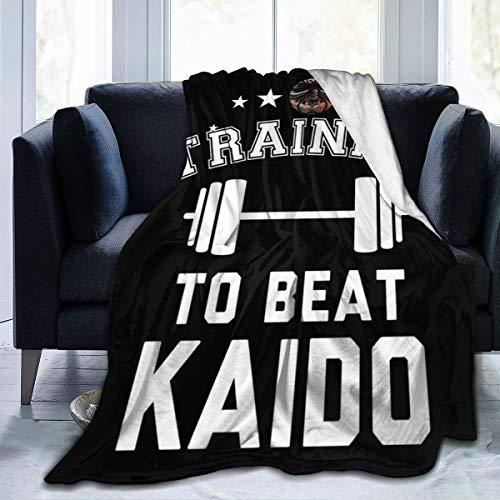 NUJSHF - Manta de franela de forro polar para entrenar a vencer Kaido de una sola pieza, ligera, ultrasuave y cálida, apta para sofá