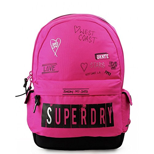SUPERDRY Print Edition Montana Backpack Scribble Pink Schoolbag G91008NQF1-SQ1 SUPERDRY OUTDOOR ORIGINALS Bags