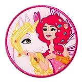Mia and me Pferd & Mia Comic Kinder - Aufnäher, Bügelbild, Aufbügler, Applikationen, Patches, Flicken, zum aufbügeln, Größe: Ø 5,9 cm