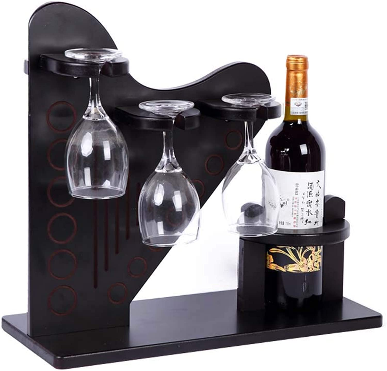 Red Wine Shelf Home Chrome Wine Bottle & Glasses Holder Shelving Unit - Holds 1 Bottles & 6 Wine Glasses