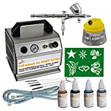 Compressor Set with Colour Beauty II Tattoo Set Complete Set with 3 Nozzles Airbrush Compressor Airbrush Gun...