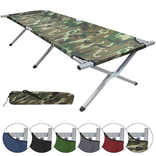 Brandina letto pieghevole da Campeggio HOLIDAY LITE 200 x 70 x 45 cm in varia colori alluminio Letto al suo, Colore:military