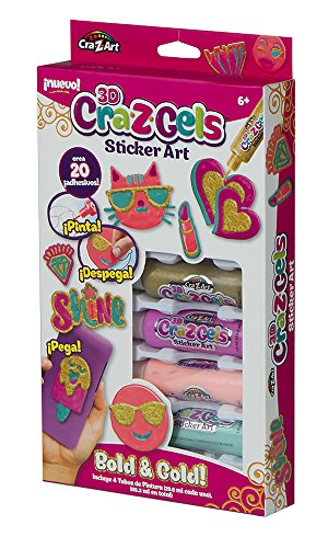 Color Baby- Crazgels 3D Stickers Decorate Your World, 25 x 16 cm (43923)