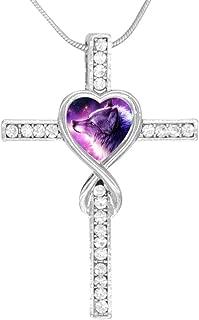 Cross Love Heart Infinity God 3D Print Jewelry Galaxy Wolf Cross Pendant Necklace