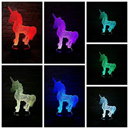 3D-LED-7 Farbe-Fernbedienung-Nachtlicht-neues Tier Kawaii Fliege Tianma Nachtlicht Multi-Birne Weihnachtsdekoration Geschenk Cartoon Spielzeug leuchtende Algen