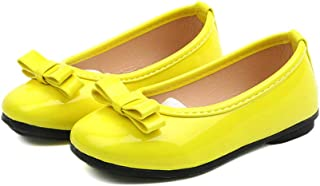 F-OXMY Girls Breathable Soft Canvas Mary Jane Shoes Cute Tassel Ballet Flat with Elastic Strap