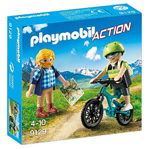 PLAYMOBIL- Ciclista y Excursionista Juguetes, Multicolor (9129)