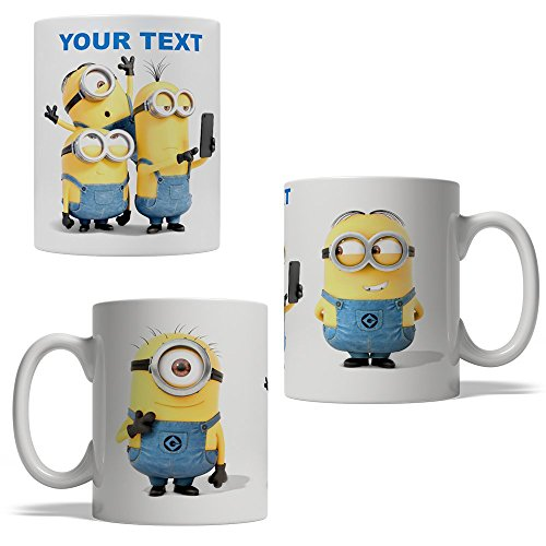 Minions Personalized Ceramic Coffee Mug - 11oz - Perfect Gift Idea for Birthday, Valentines Day, Gift for Housewarming Party or any Occasions