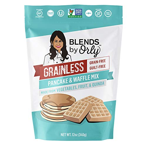 Grainless Grain Free Pancake Mix | Grain-Free Waffle Mix (Flour) - Baking Flour for Grain Free Pancakes, Grain-Less Waffles & Crepes | Gluten Free, Nut & Soy Free, Paleo Friendly, OU Kosher, 1 Pack