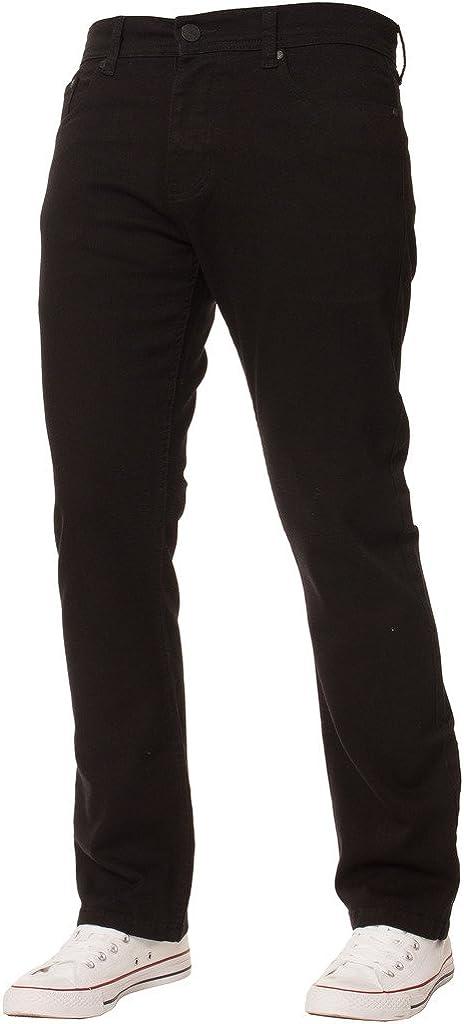 Enzo Ranking TOP8 New Mens Stretch Straight Regular Siz Basic Oklahoma City Mall Denim Fit Jeans