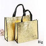 VFJLR Bolsa de compras 2 piezas de bolsas de compras reutilizables para mujer, bolsas de almacenamiento de viaje de lona de gran capacidad, bolso de mujer con brillo, bolso de mano de lona, bolsa ec