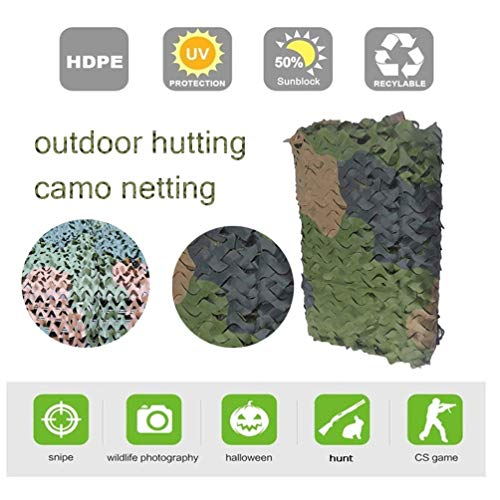 3 * 4m/10 * 13ft Sun Shelter Camping Camo Net Army Woodland Jungle Lightweight Durable Hunting Camouflage Net For Camping Woodland (Color : -, Size : 3x3m/10x10ft)