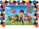 Paw Dog Patrol Birthday Party Supplies Decorations, Photo Background,Happy Birthday Party Photography Backdrops 5x3ft with Balloons Decorations for Girls Boys